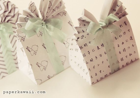 Learn How To Make These Cute Origami Gift Bags Easy Follow Video Tutorial Perfect As Easter Box Party Favour Wedding