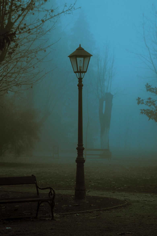 Streetlight In Fog Street Light Dark Photography Fog Dark street night fog light mist