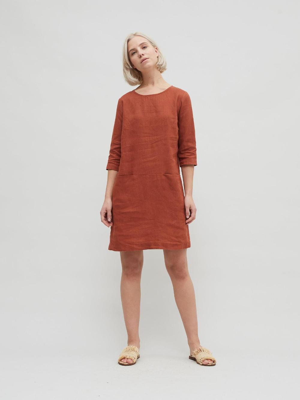 Linen dress/ Minimal linen dress/ Linen tunic/ Minimal linen tunic/ Washed linen dress/ Linen clothes/ Loose dress #linentunic