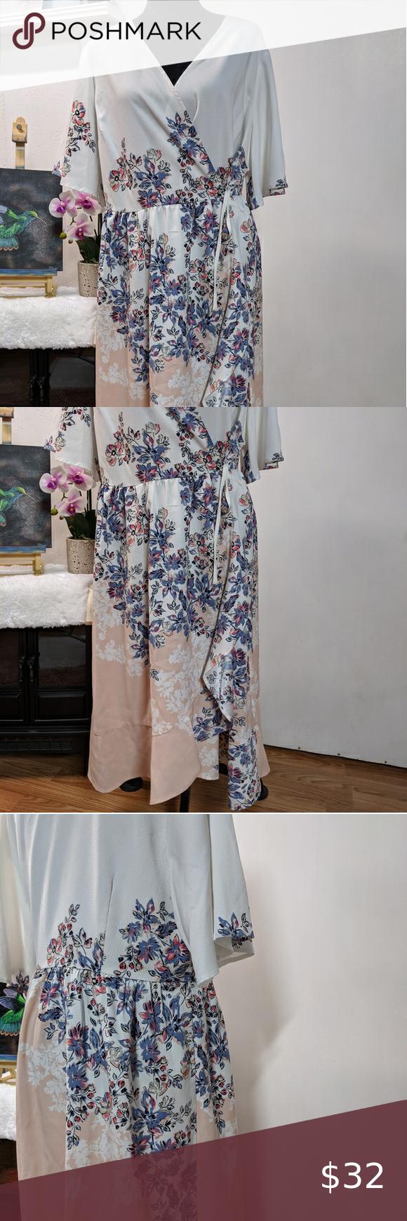 Kaari Blue Dress 2x Spring Floral Dresses 2x Dresses Clothes Design [ 1740 x 580 Pixel ]