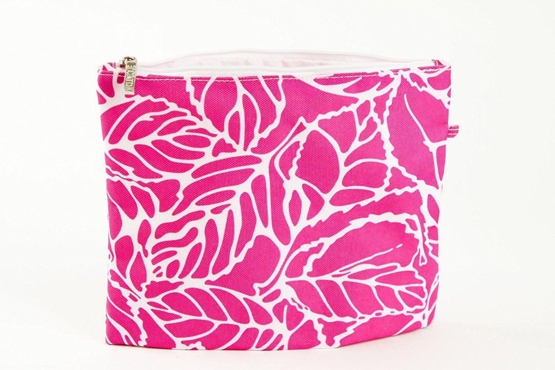 Clinique Pink and White Leaf Make up Bag >> Insider's