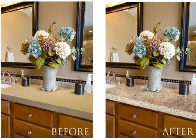 painted countertops before and after painting kitchen countertops before and after picture. Black Bedroom Furniture Sets. Home Design Ideas