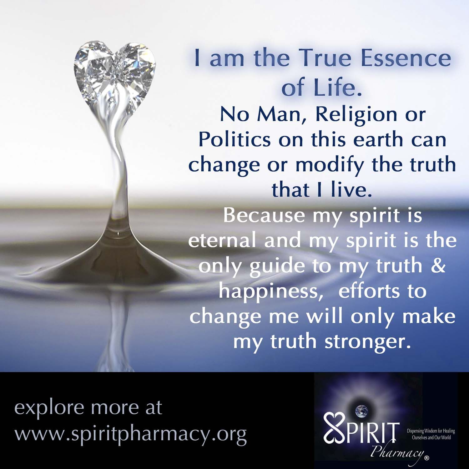 It is a monumental time in existence to realize our true nature.  Once one becomes aware of the spirit living within our physical bodies we know where our true sense of self really exists.  There is nothing that can change, shake or modify the spirit within us, it truly is eternal and it is ONE.