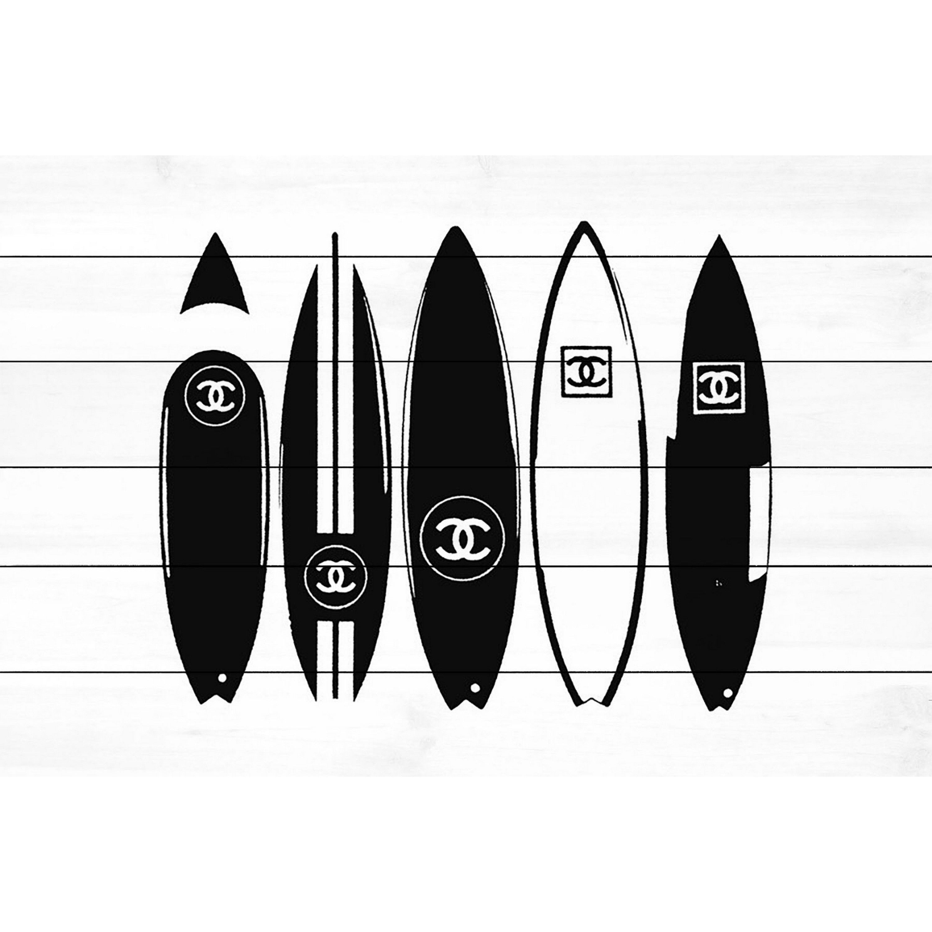 Marmont Hill 'Chanel Surfboards' Painting Print on White