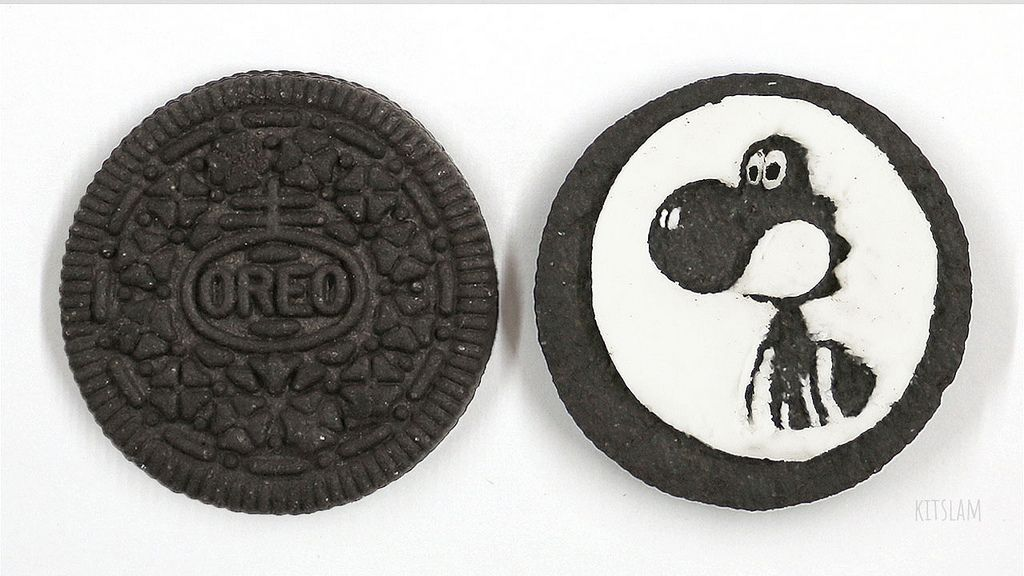 Oreo Carving Oreo Art Of Yoshi Caved Into An Oreocookie Oreo