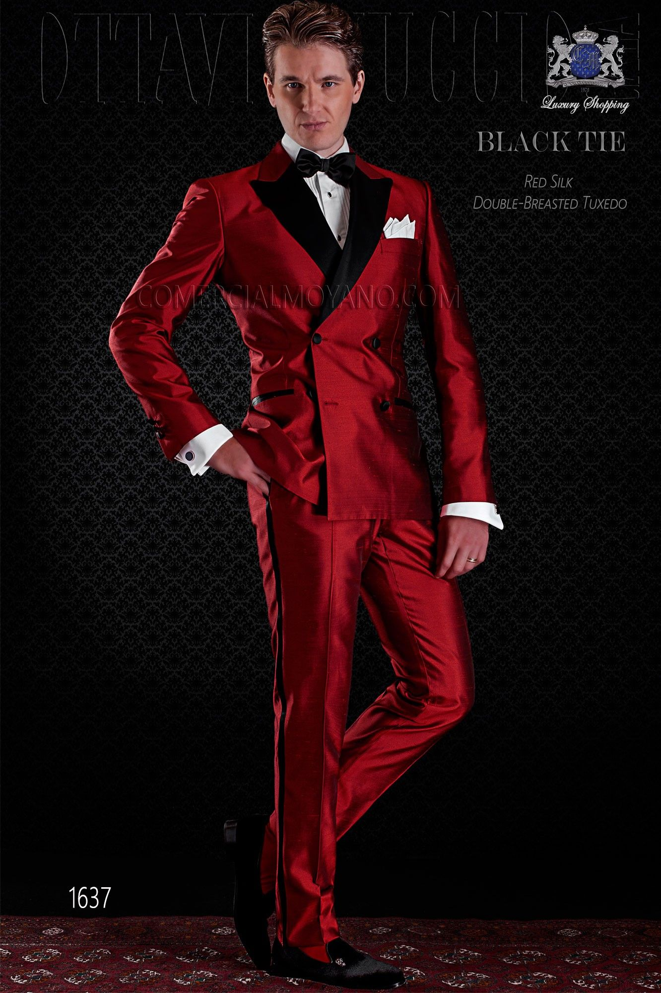 Esmoquin Cruzado Rojo Shantung Seda Solapa Raso Ottavio Nuccio Gala In 2020 Wedding Suit Styles Groom Suit Black Mens Dress Vests