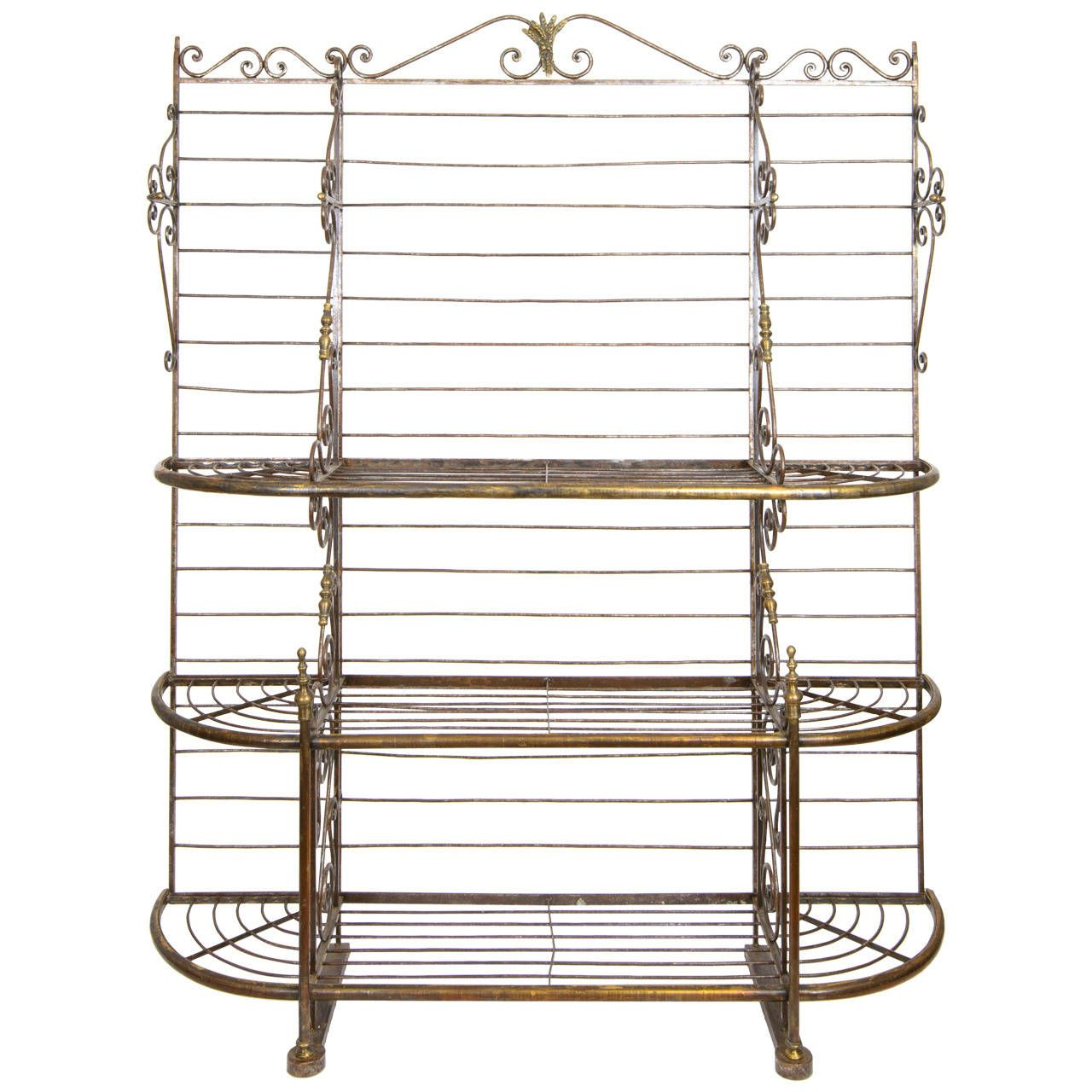 19th Century French Baker S Rack From A Unique Collection Of