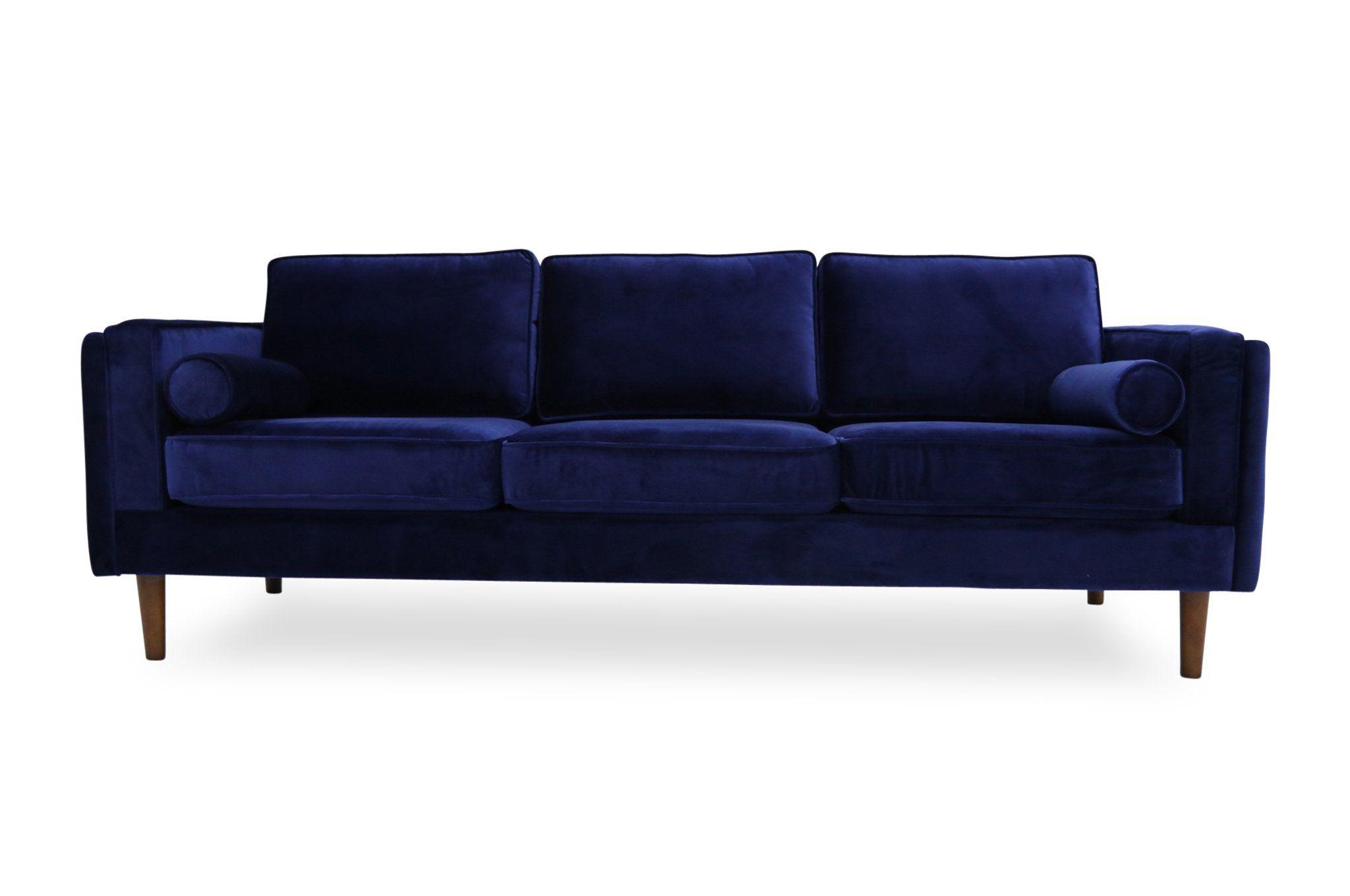 Fordham Velvet Sofa (Navy Blue) | Home sweet Home in 2019 ...