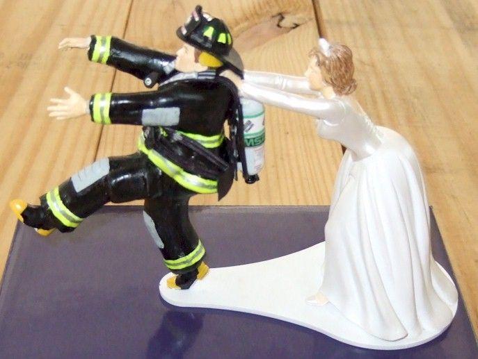 female fire fighter wedding cake topper Firefighter wedding cake