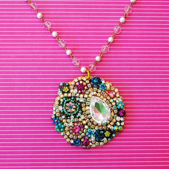 Multi Crystal Statement Necklace http://www.etsy.com/shop/glamourpusscouture?ref=pr_shop