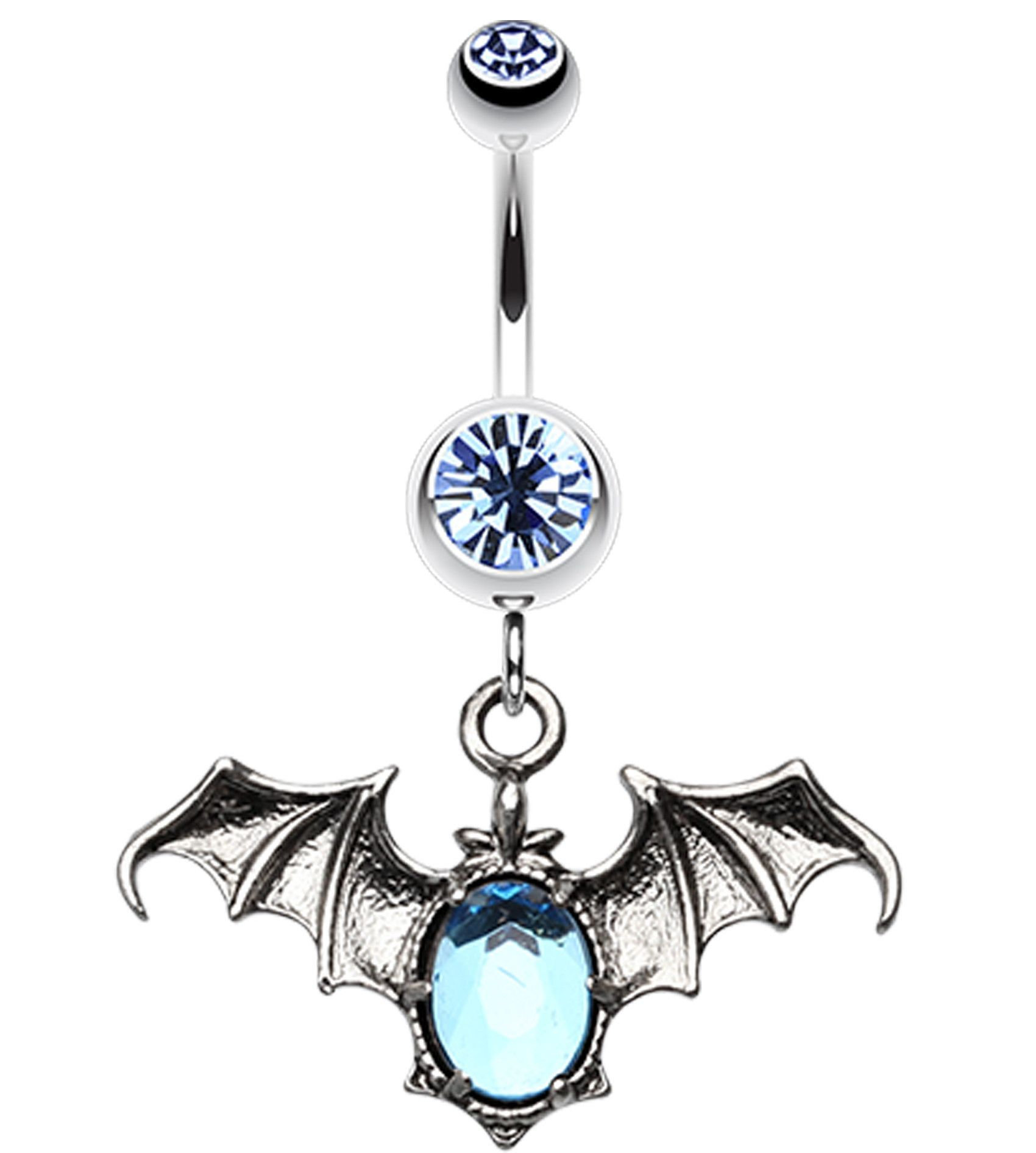 Belly button piercing jewellery  Bat Sparkle Belly Button Ring   GA mm  Light Pink  Sold