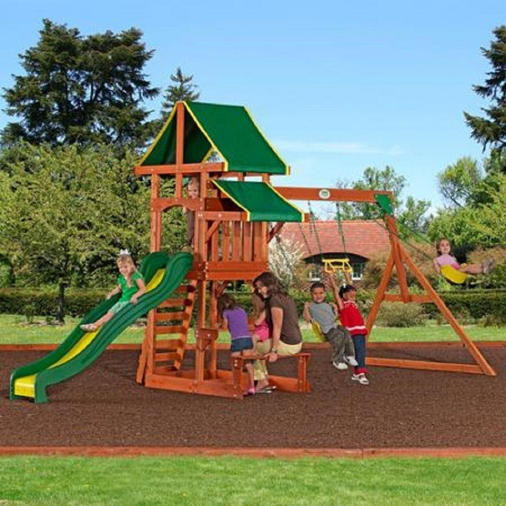 Backyard Playground Sets Ideas For Backyards Wooden Swing Clearance