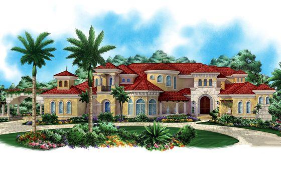 Mediterranean Style House Plan 5 Beds 7 Baths 12725 Sq Ft Plan 27 479 Mediterranean Style House Plans Florida House Plans Mediterranean House Plan