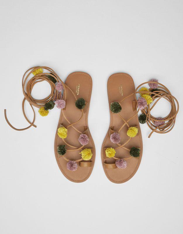 Pompones Todo España amp;bear Pull Ver Zapatos Mujer Sandalia qzSVpGLMU