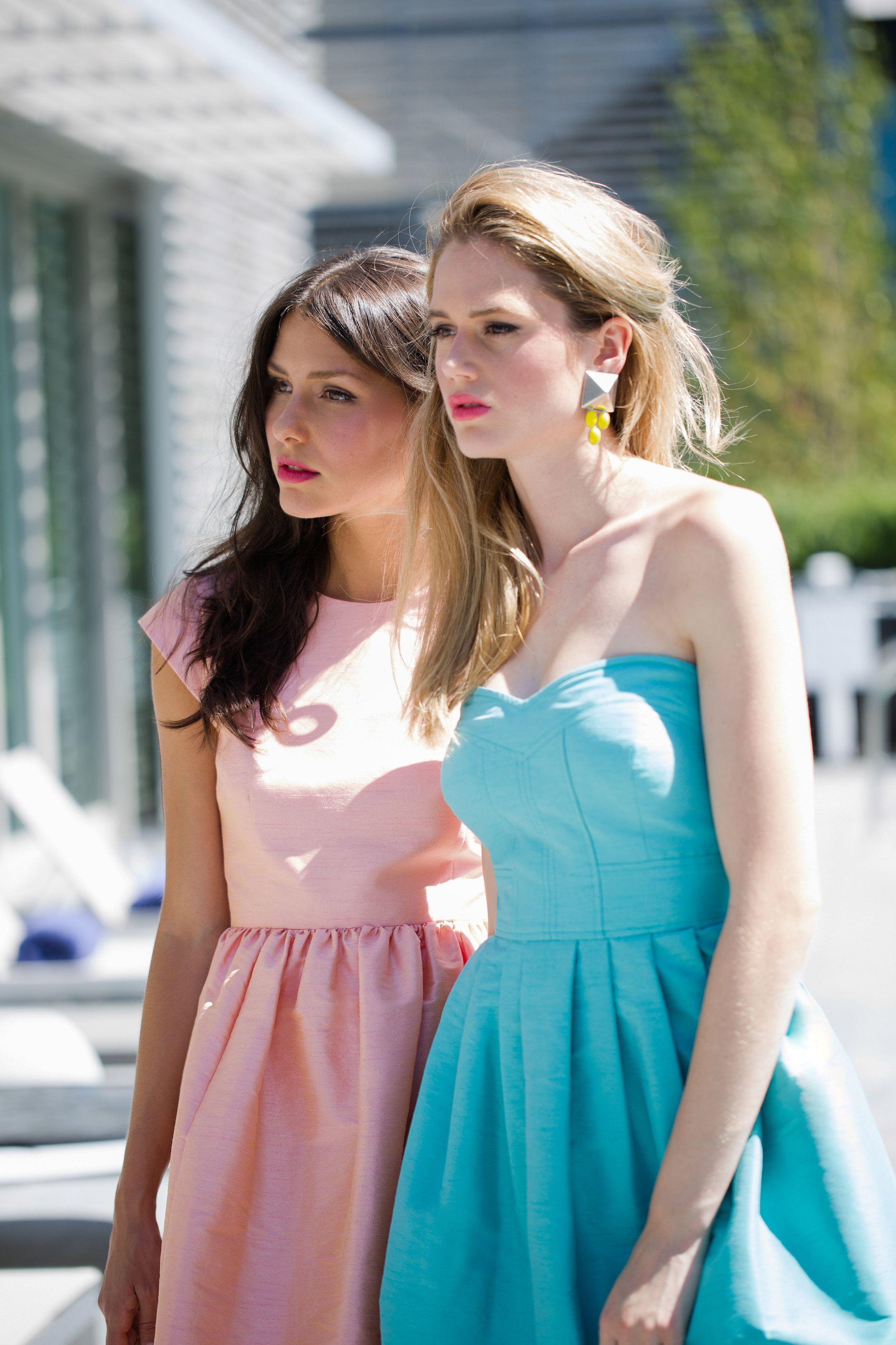 Gorgeous sherbet hues = some seriously pretty maids. Bridesmaid Dresses: Donna Morgan - donna-morgan.com