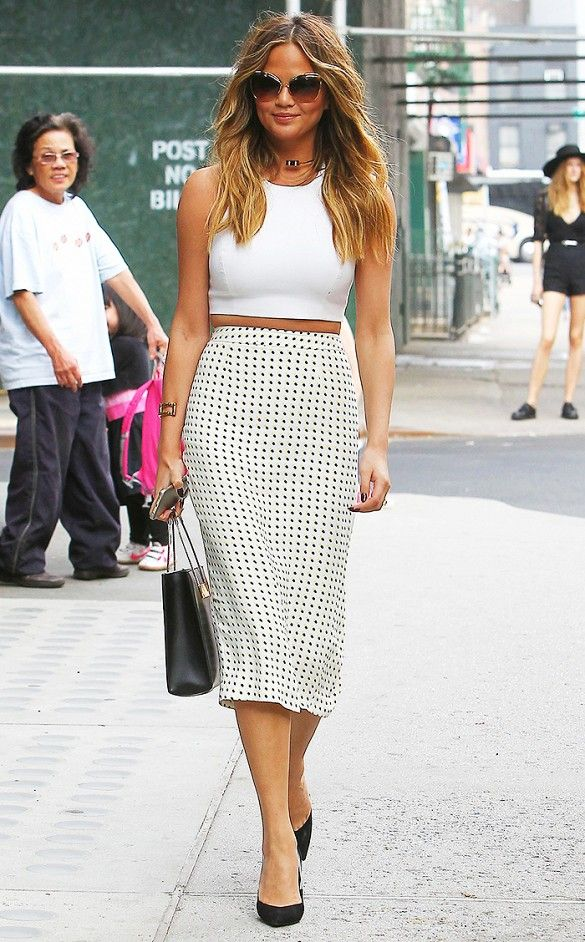 Crop Top Skirt Combo Street Life Fashion How To Wear Skirts