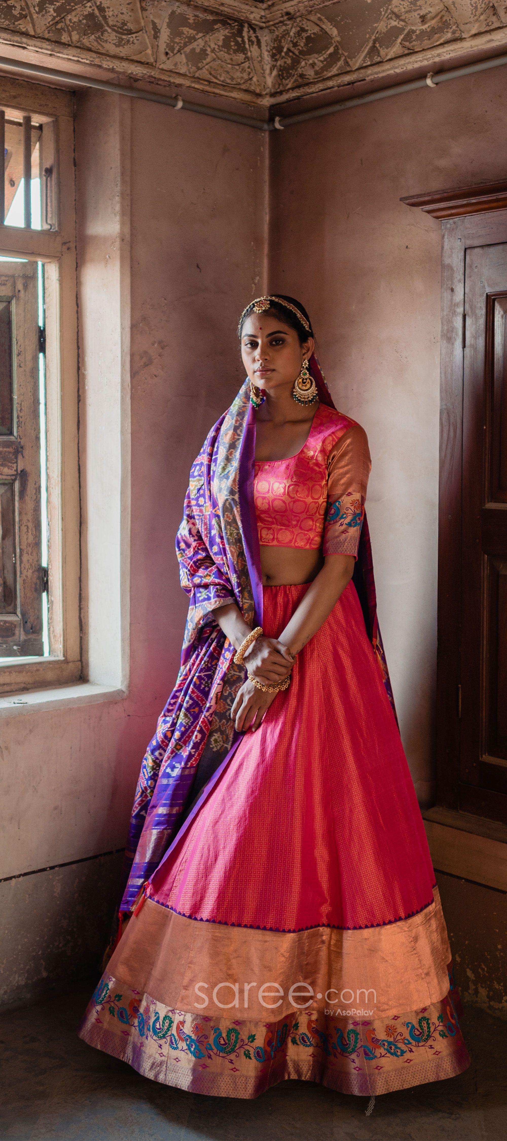 Wedding Party Wear Banarasi Lehenga Choli Lehenga choli Custom made LehengaLehenga With Mirror Stitch Blouse With Heavy Latkan L11
