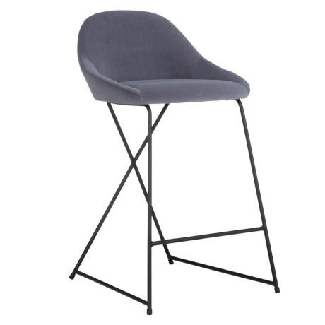 PLEAT Bar Stool, Grey