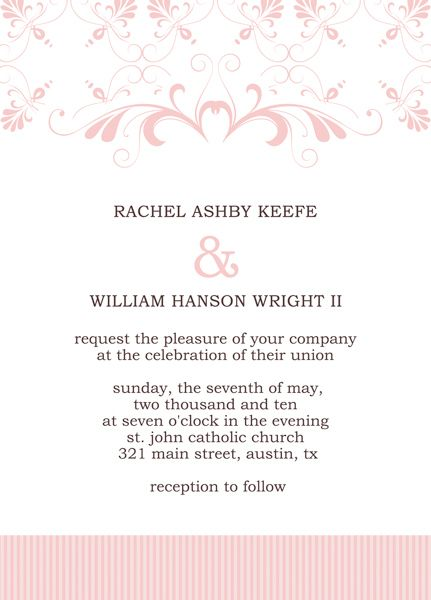 Wedding Invitation Cards Templates wedding Pinterest Wedding - free invitation card templates for word