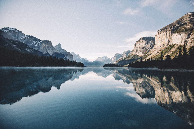 Maligne Lake Morning Mirror By Johannes Hulsch On 500px