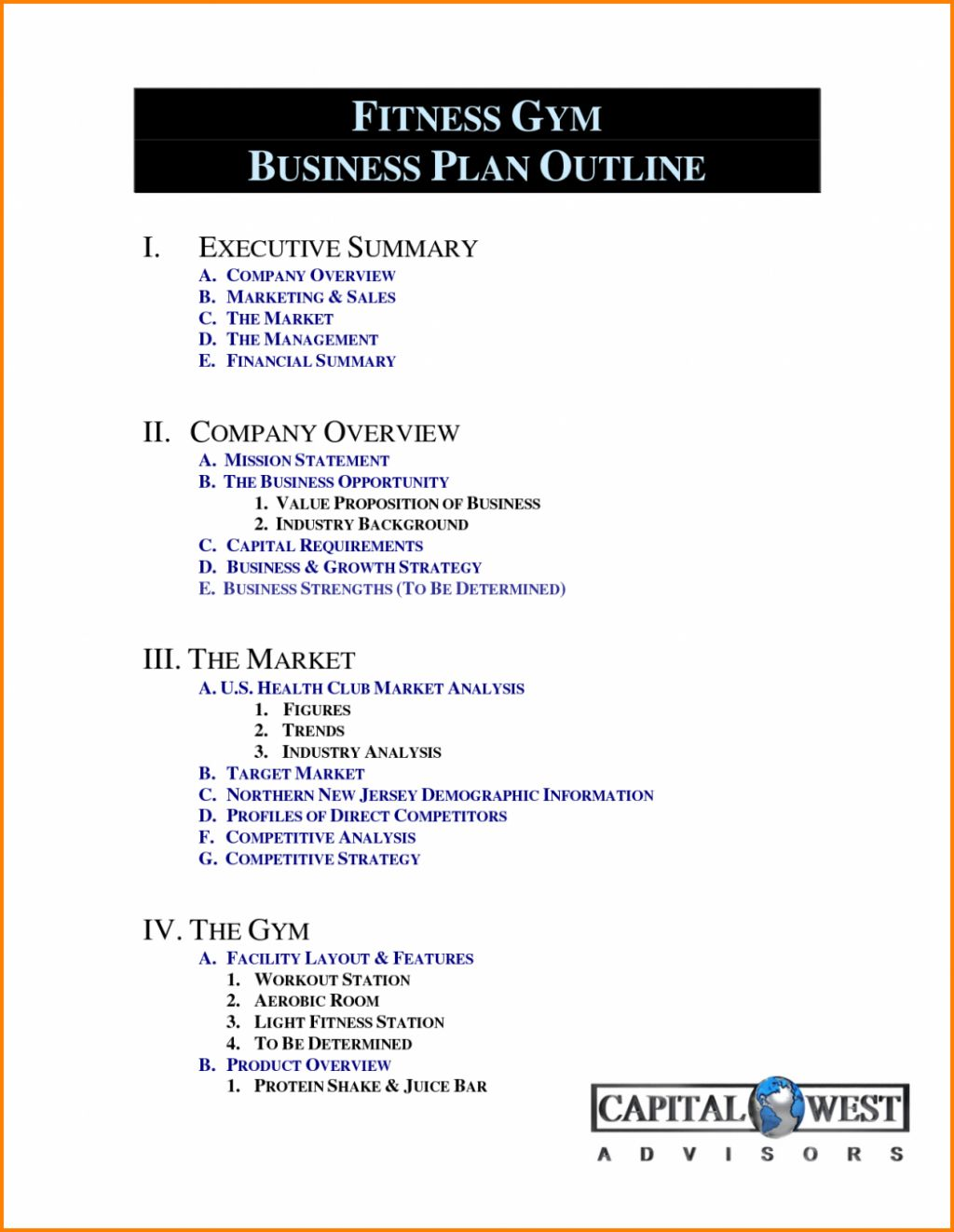 004 Free Business Plan Template Word South Africa Gym Pdf