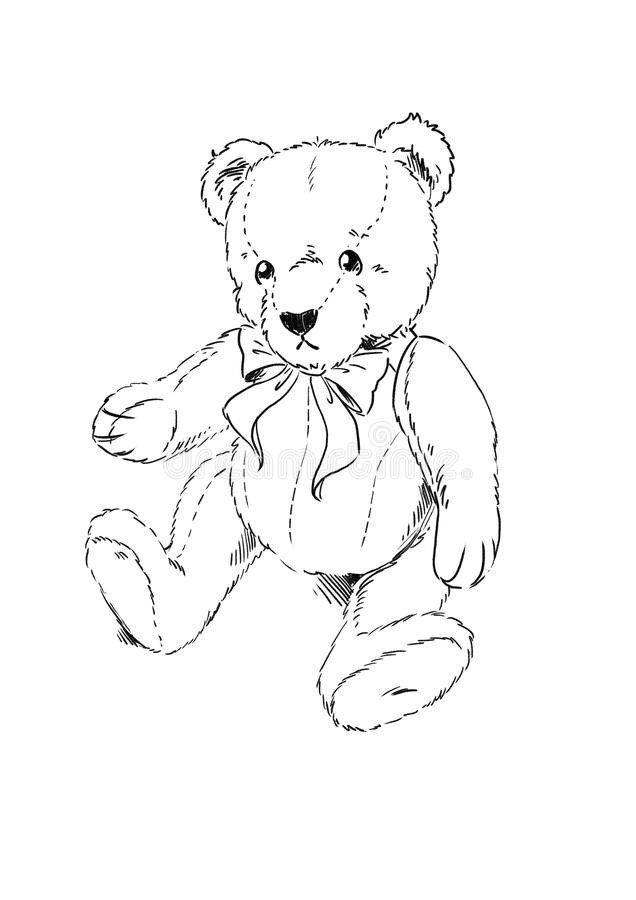 Teddy Bear Coloring Page Teddy Bear Coloring Page Stock