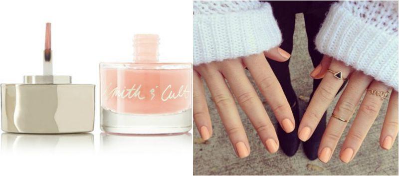 Peachy Cream nail colour