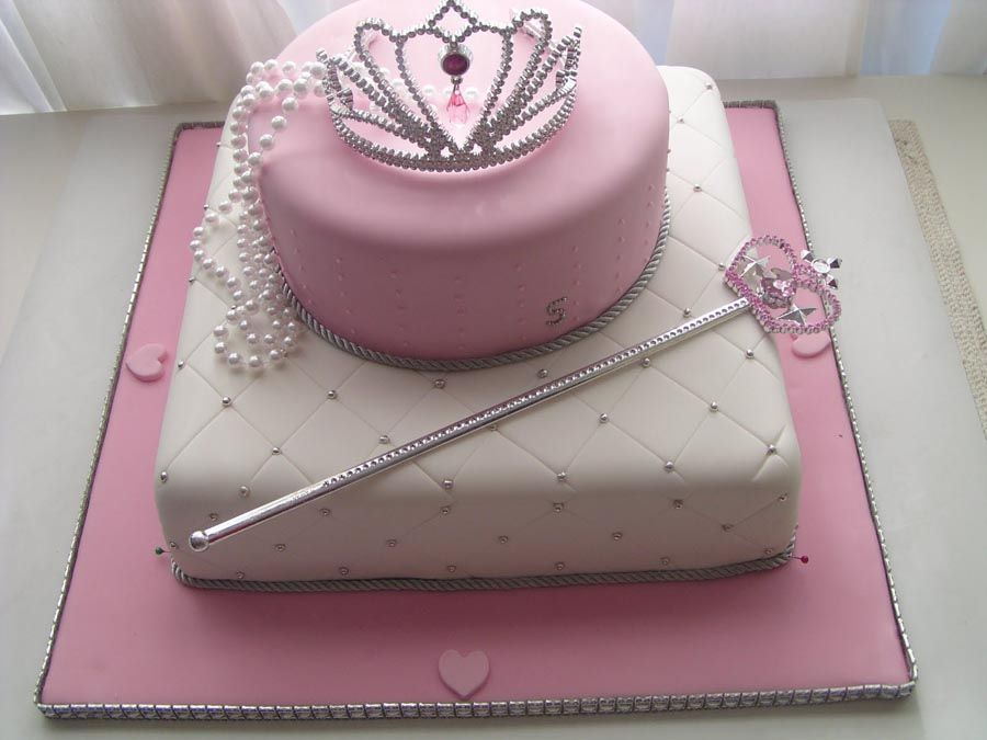Belles loves this Princess cake Look at the tiara Our Cakes and