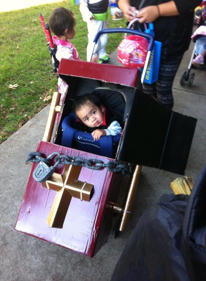 kids halloween costume with stroller my son conor as count dracula i built this - Kids Halloween Costumes Pinterest