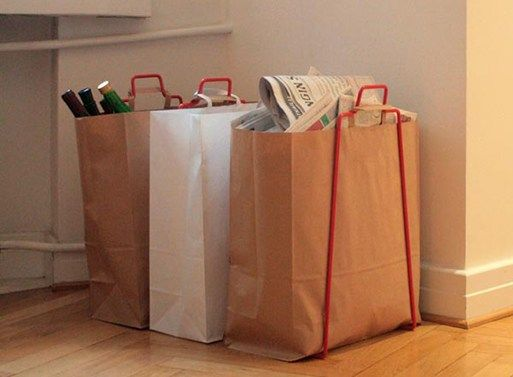 Helsinki Paper Bag Holder Recycled Ideas Recycling