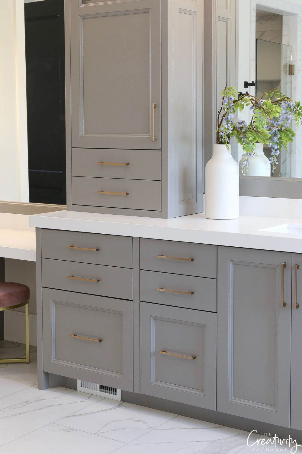Best Grey Paint Color For Bathroom Cabinets