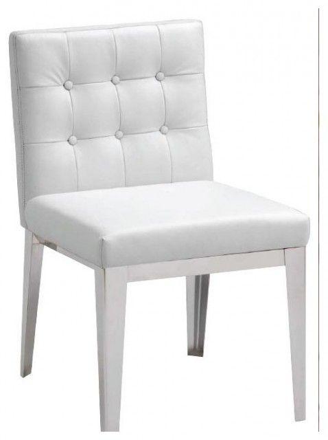 Weiße Leder Stühle Esszimmerstühle