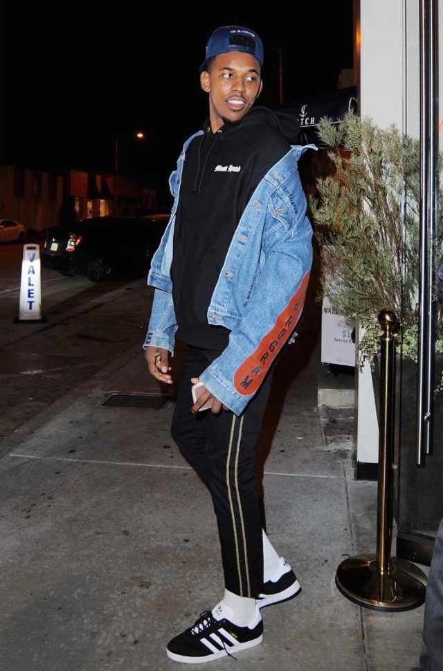 Nick Young Wears Visitor On Earth Jacket, Most Hated Hoodie, Palm Angels  Pants and Adidas Sneakers
