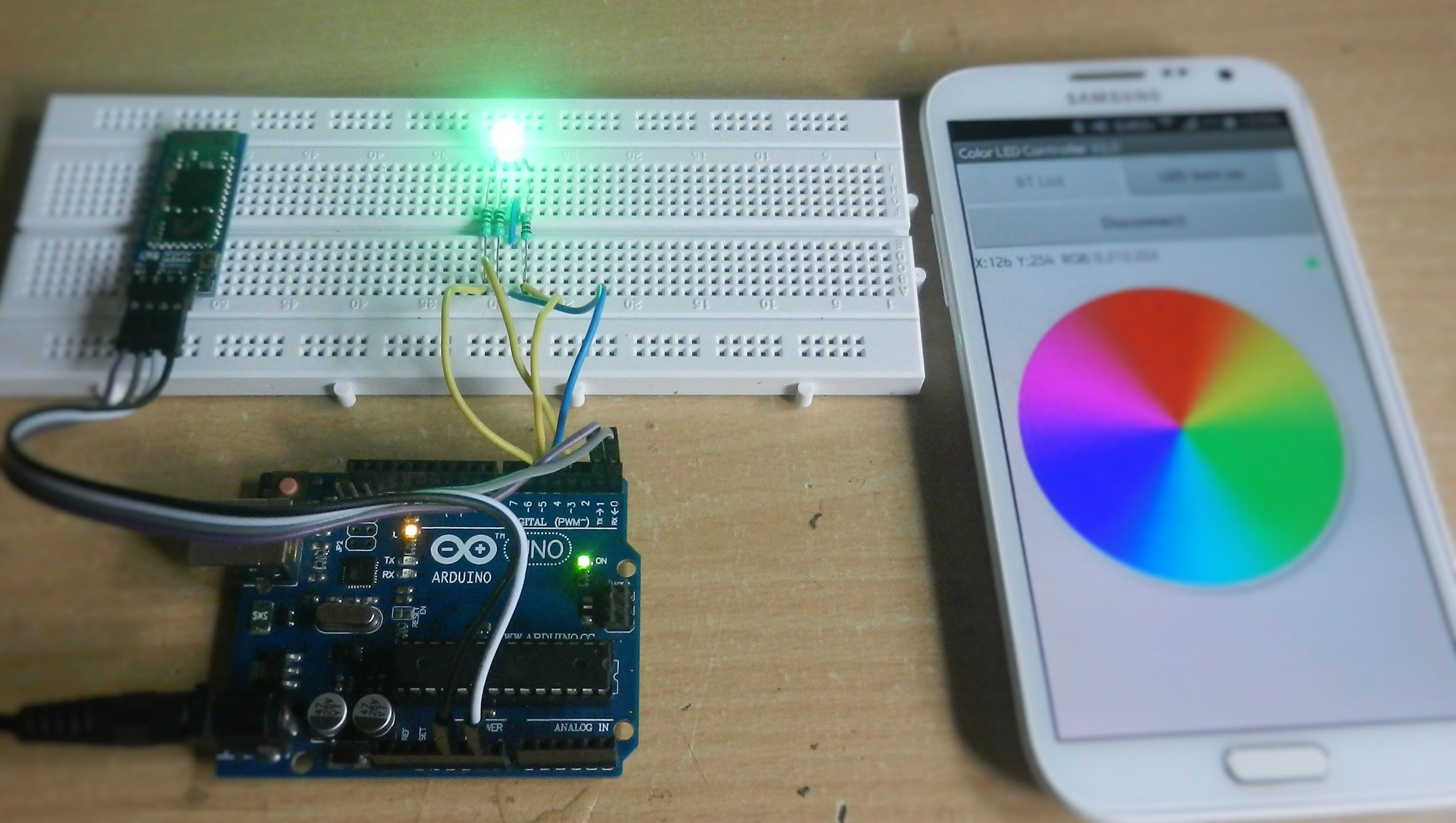 Arduino Rgb Led Control Using Bluetooth Jercio Pinterest Photo Interrupter Circuit For Digital Logic Smartphone Android