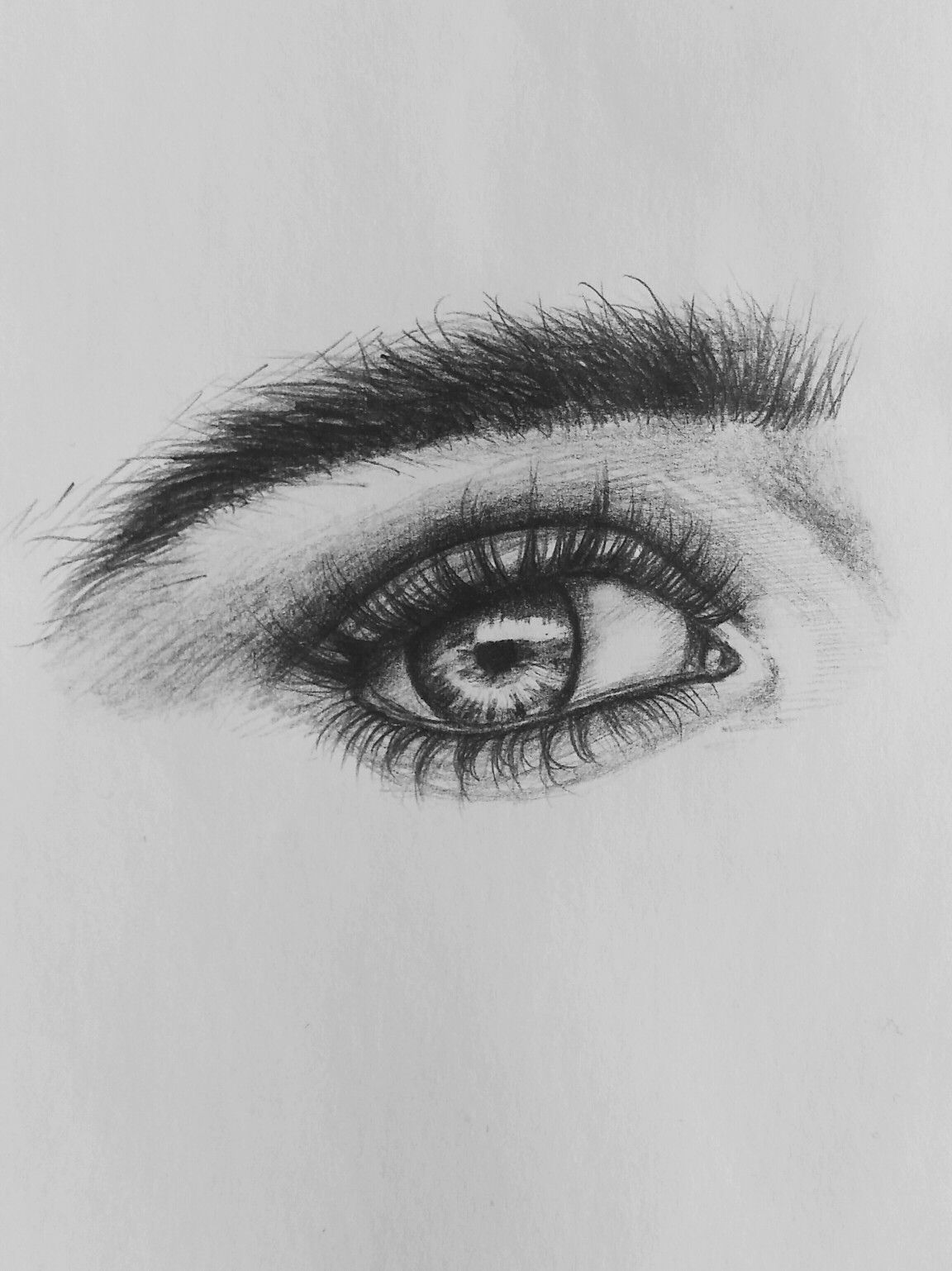 Realistic Eye Drawing by #xolgaix • Instagram @olgairak • #eyes #eyedrawing #realistic #sketchbook #realisticeye