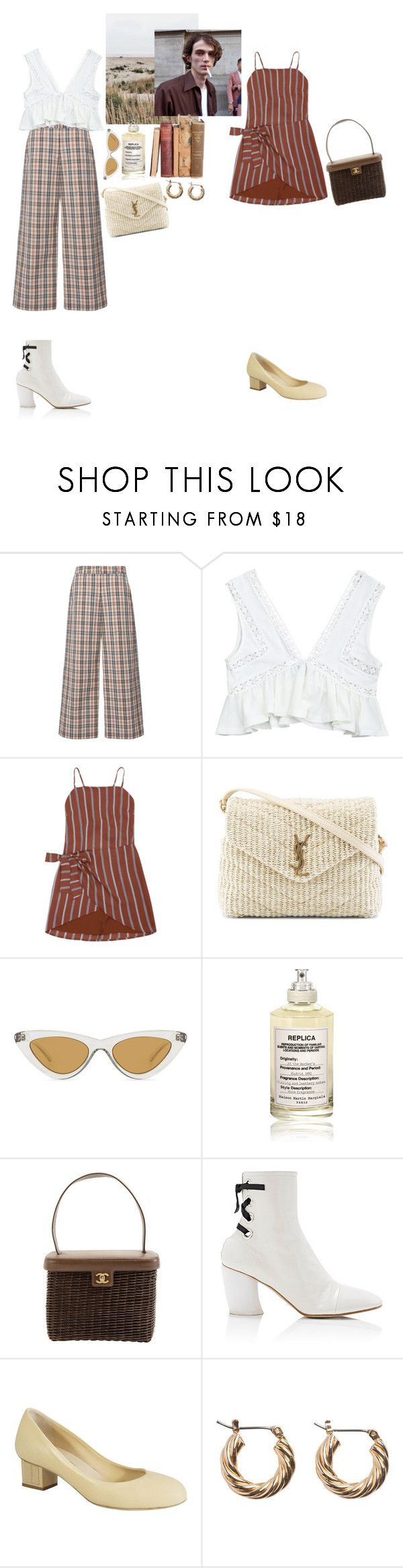 """""""for the time being"""" by rsussher ❤ liked on Polyvore featuring Isa Arfen, Yves Saint Laurent, Le Specs, Maison Margiela, Chanel and Proenza Schouler"""