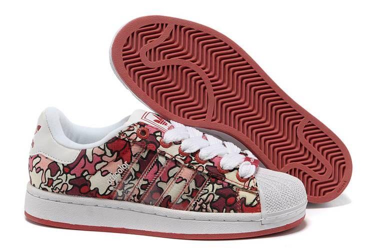 8253fd72729c40 Adidas Women Originals Adicolor Superstar 2K IS Print Shoes Red Camo White