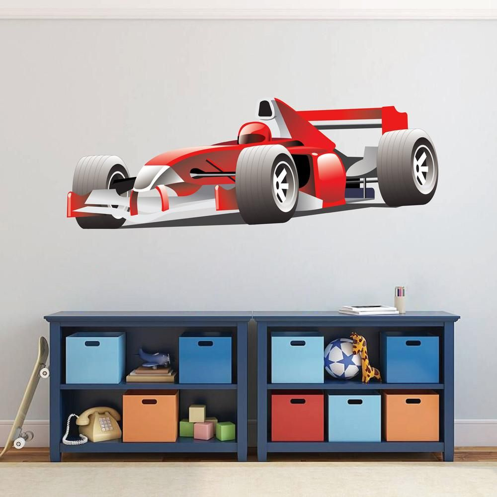 Cik594 Full Color Wall Decal Formula 1 Cars Car Transport Living Room Bedroom Sports Wall Decals Wall Colors Wall Stickers Sports [ 1000 x 1000 Pixel ]