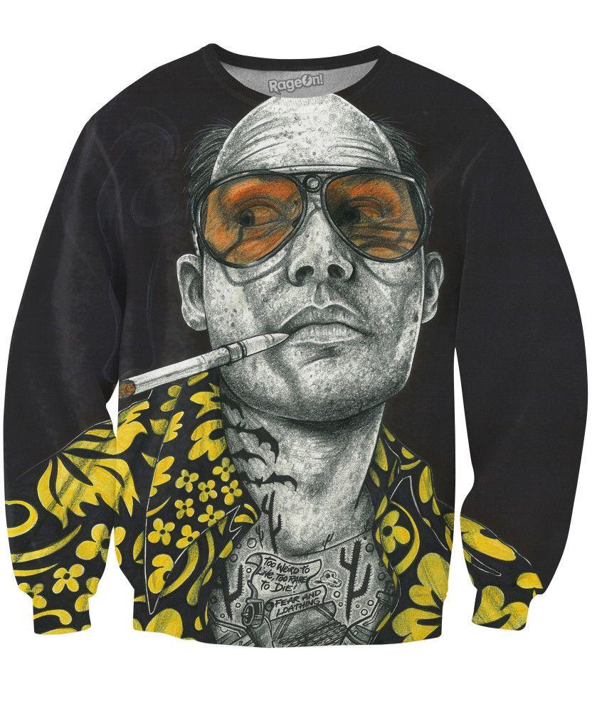 RageOn Technodrome1 Scientific Mind Premium All Over Print Sweatshirt