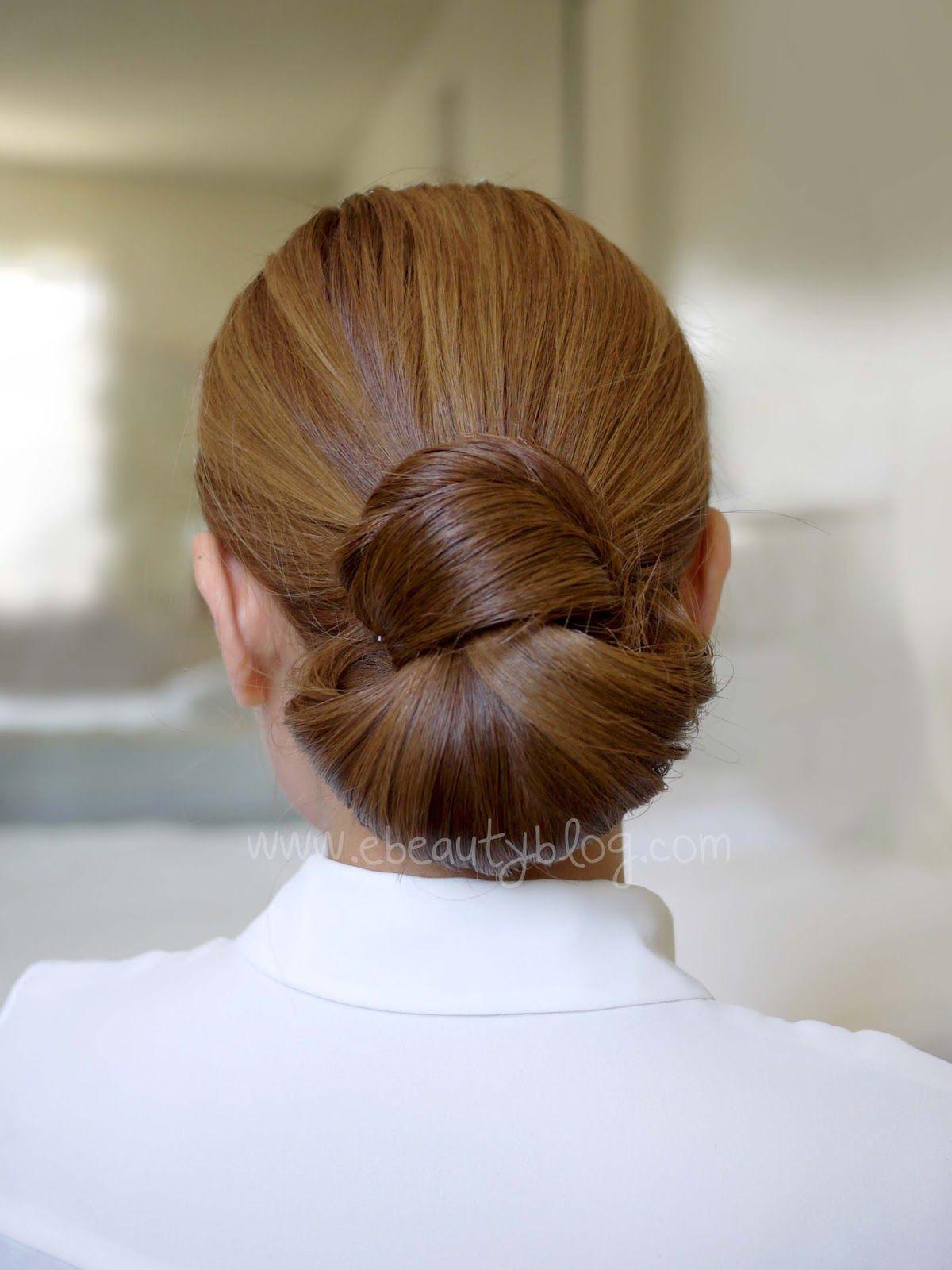 Hair tutorial easy elegance hair bun looks way more complicated