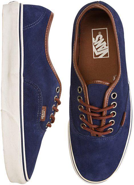 Vans Authentic (leather suede) · Tenis De MujerModa Para Hombres ConchasZapatillasCalzadoVans Azul MarinoZapatos ... 85ea94d60bd