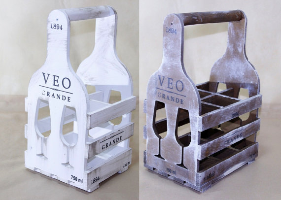 Wooden Wine Bottle Holder Wine Box Wine Carrier Wine Rack Stand For Wine Bottles Provence Style Wine Holder Bottle Rack Bottle Carrier In 2020 Wooden Wine Bottle Holder Wine Holder Wine
