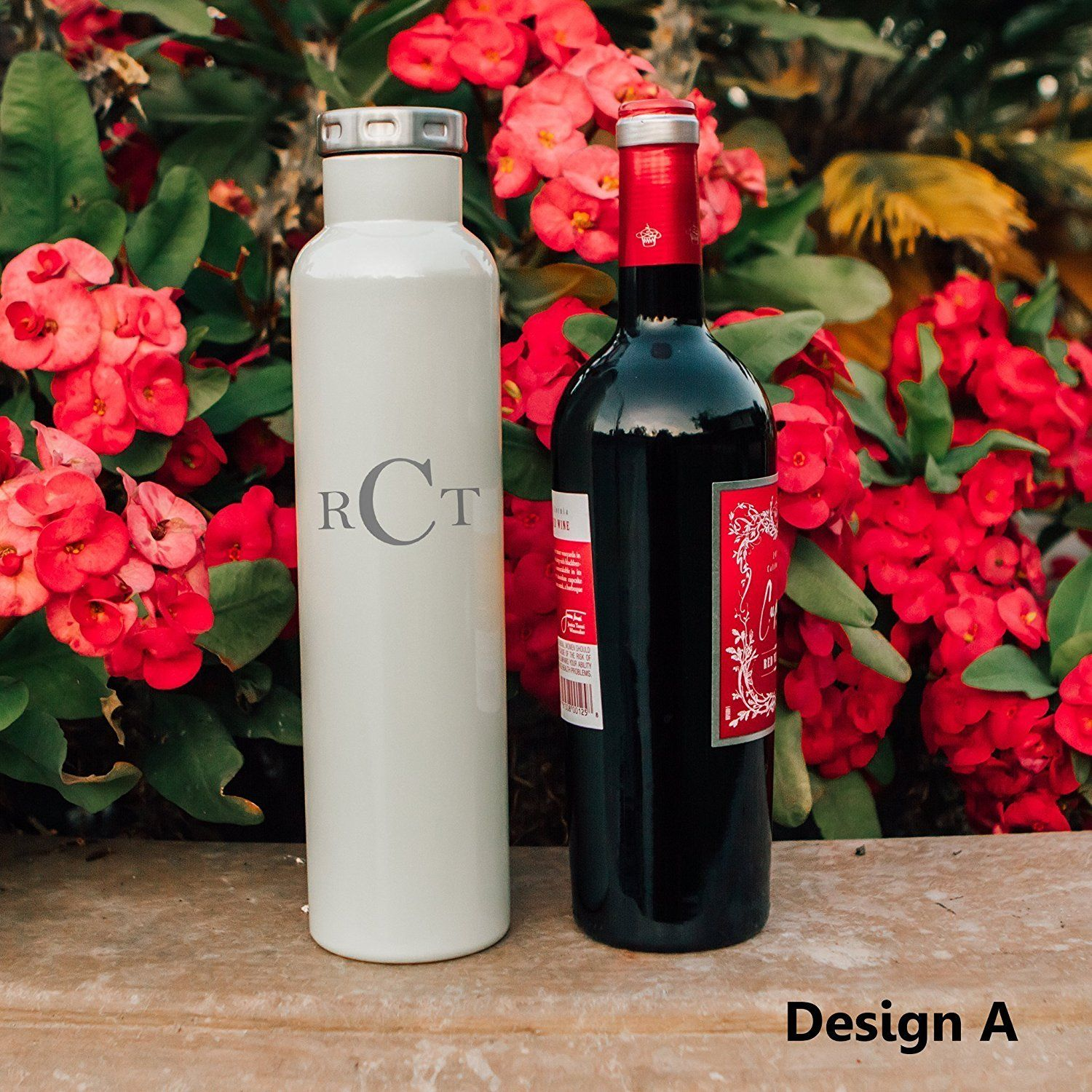 Factory Enova Double Wall Insulated Vacuum Fifty Fifty Bottle Personalized Wine Growler 750ml 25 Ounce N Personalized Bottles Personalized Wine Bottle