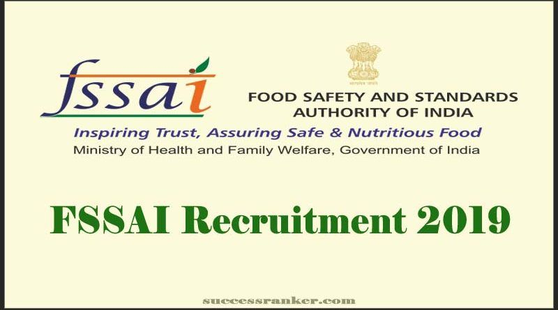 Fssai Recruitment 2019 Recruitment Human Resource Development
