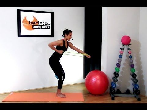 Resistance Band Resistance Loop Workout - Resistance Loop Upper Body BARLATES BODY BLITZ - YouTube **Demo video but could get ideas
