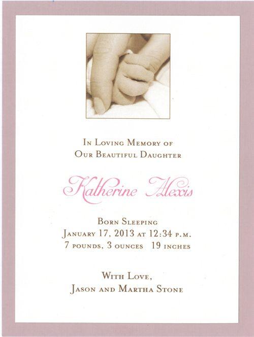 Petite Baby Memorial Card Memorial Cards Baby Memories Memories