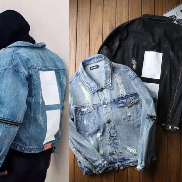West Denim Jackets Men Hip Hop Clothing Streetwear  7593e249ecc