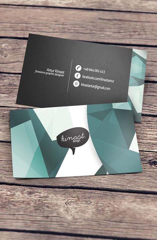 Facebook Logo For Business Cards : facebook, business, cards, Creative, Business, Cards, Kinast, Design, Creative,
