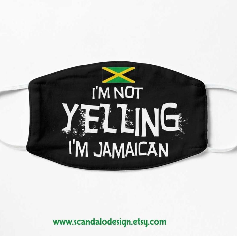 Jamaican Mask Reusable Jamaica Mask Jamaica Souvenir Etsy In 2020 Mask Jamaicans Masks For Sale