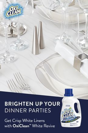 Learn How To Whiten And Brighten Your Table Cloths And
